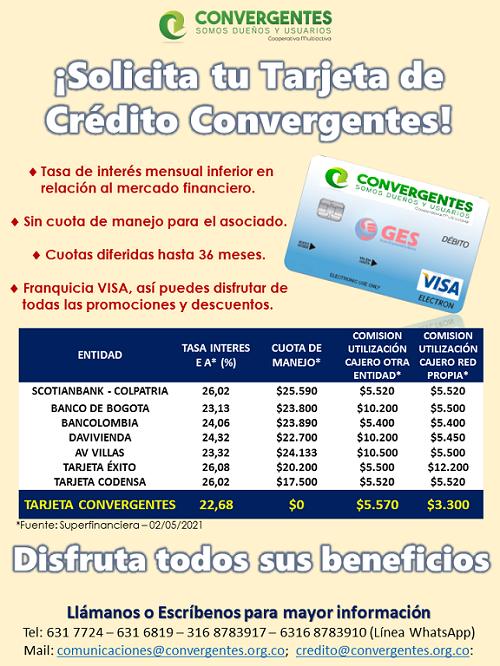 imagen alusiva Tarjeta Crédito Convergentes - GES